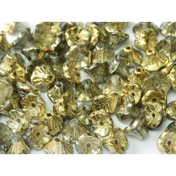 Flower Cup Beads  7x5 mm  Crystal Amber - 25 pcs