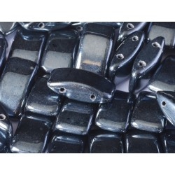 Carrier Beads 17 x 9 mm   Hematite -  5  pcs