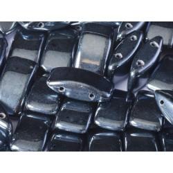Carrier Beads 17 x 9 mm  Hematite   -  5 pz
