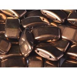Carrier Beads 17 x 9 mm  Jet Bronze  -  5 pz