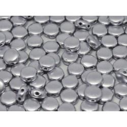 DiscDuo® Beads 6 x 4 mm Aluminium Silver   -  25  pcs