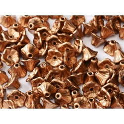 Perline Flower Cup 7x5 mm  Crystal Camel Gold- 25 pz