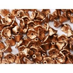 Perline Flower Cup 7x5 mm Crystal Camel Gold- 25 pz