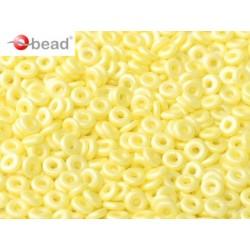 O Bead  4 mm Pastel  Yellow   - 5  g