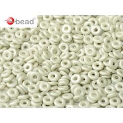 O Bead  4 mm Pastel  Grey  - 5  g