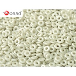 Perline O Bead  4 mm Pastel Grey   - 5  g