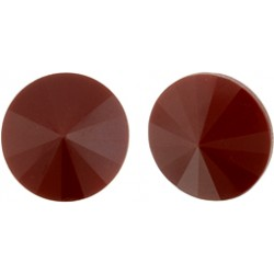 Matubo Rivoli  14 mm  Dark  Coral -  1 pc