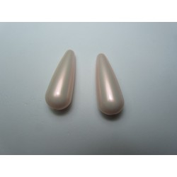 Goccia Resina  33x13 mm Iridescent Light Rose   -  2 pz