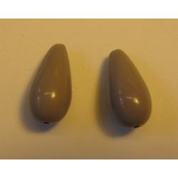Resin Drops Luster  Effect 23x11 mm Grey/Beige  2 pcs