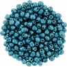 Fire Polished Faceted Round Beads  3 mm Color Trends Saturated Metallic Shaded Spruce - 50 pcs