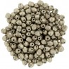 Fire Polished Faceted Round Beads  3 mm Color Trends Saturated Metallic Hazelnut  - 50 pcs