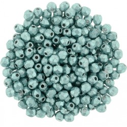 Fire Polished Faceted Round Beads  4 mm Color Trends Saturated Metallic Island Paradise - 50 pcs