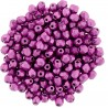 Fire Polished Faceted Round Beads  4 mm Color Trends Saturated Metallic Pink Yarrow - 50 pcs