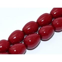 Czech Plain Glass Tears/Pears 11 x 8 mm Cranberry - 4 pcs