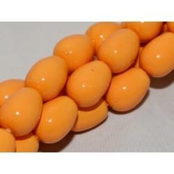 Gocce/Pere di Boemia  Lisce 11 x 8 mm Pumpkin   -  4  pz