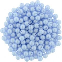 Perle Tonde in Vetro di Boemia  3 mm  Powdery Pastel  Purple    - 50  Pz