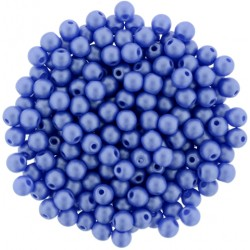Perle Tonde in Vetro di Boemia  3 mm  Powdery Blue   - 50  Pz