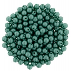 Perle Tonde in Vetro di Boemia  3 mm  Powdery Teal  - 50  Pz