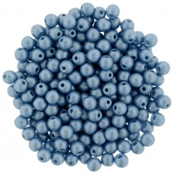 Perle Tonde in Vetro di Boemia  3 mm  Powdery Ocean  - 50  Pz