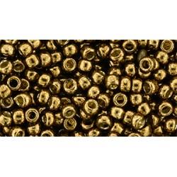 Toho Round 8/0 Permanent Finish Galvanized Bronze   - 10 g