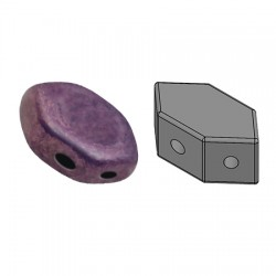 PAROS® par Puca®  7 X 4d  mm Opaque Mix Amethyst/Gold Ceramic Look   - 1 0 g