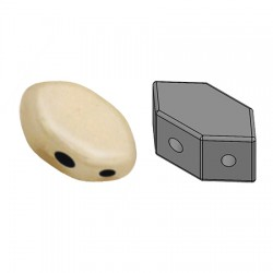 PAROS® par Puca® 7 X 4 mm Opaque Beige Ceramic Look - 10 g