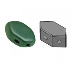 PAROS® par Puca®  7 X 4  mm Metallic Mat Dark Green Turquoise - 10 g