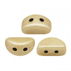KOS® par Puca®  6 X 3  mm Opaque Beige Ceramic Look - 10 g