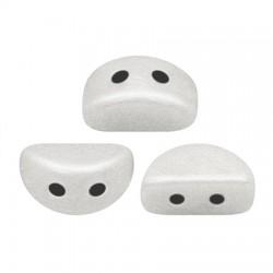 KOS® par Puca®  6 X 3  mm Opaque White   Ceramic Look - 10 g