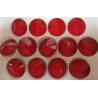 Rivoli Vetro  14 mm  Crystal Red - 1 pz