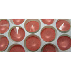 Rivoli Vetro  14 mm  Crystal Peach  - 1 pz