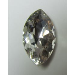 Cabochon Navetta Sfaccettata 17x32 mm Crystal 1 pz