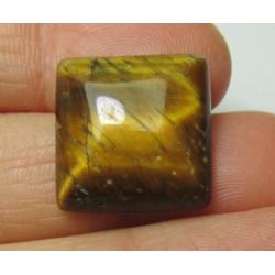 Cabochon Quadrato   Occhio di Tigre  16 x16 mm   - 1 pz