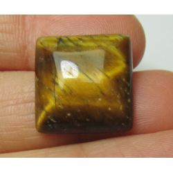 Tiger Eye Square  Cabochon  16  x 16  mm  -  1 pc