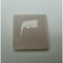 Cabochon Quadrato Quarzo Rosa 16 x16 mm - 1 pz