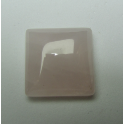 Rose Quartz Square Cabochon 16 x 16 mm - 1 pc