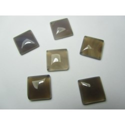Square Cabochon 16 x 16 mm Beige- Grey- 1 pc