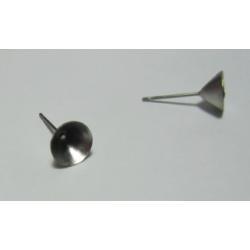 Perno Acciaio  Concavo per Alloggiamento strass  da  3  mm  -  2 pz