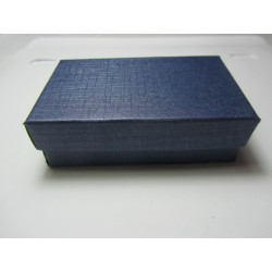 Cardboard  Box for Jewelry 80x50x25  mm Dark Blue  - 1 pc