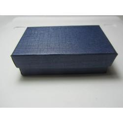 Cardboard Box for Jewelry 80x50x25 mm Dark Blue - 1 pc