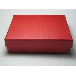 Scatola Cartone per Bijoux  80x50x25 mm  Rosso  - 1 pz