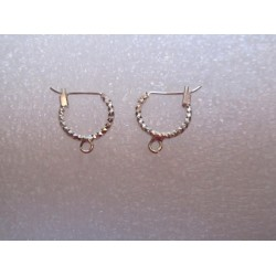 Brass Hook Earwire , Drop Shape  20x8   mm, Silver Color Plated  - 2 pcs