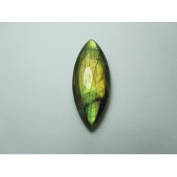 Natural  Labradorite  Horse Eye Cabochon   40 x 16 mm - 1 pc