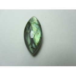 Natural  Labradorite  Horse Eye Cabochon   35 x 16 mm - 1 pc