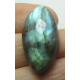Natural  Labradorite  Horse Eye Cabochon   30 x 15 mm - 1 pc