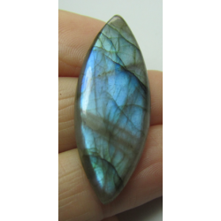Natural  Labradorite  Horse Eye Cabochon  40 x 15  mm - 1 pc