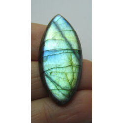Natural  Labradorite  Horse Eye Cabochon  37 x 18  mm - 1 pc