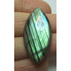 Natural  Labradorite  Horse Eye Cabochon 34 x 17   mm - 1 pc