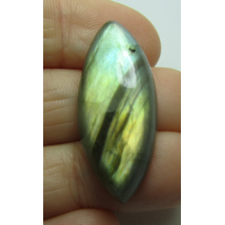 Natural  Labradorite  Horse Eye Cabochon 33 x 18   mm - 1 pc