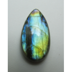 Natural  Labradorite  Drop Cabochon  28 x 15   mm - 1 pc